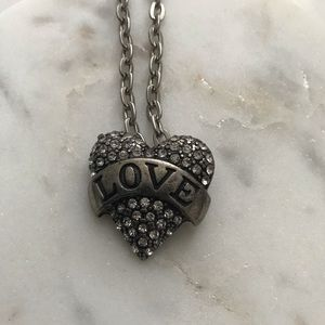 Love heart shaped necklace